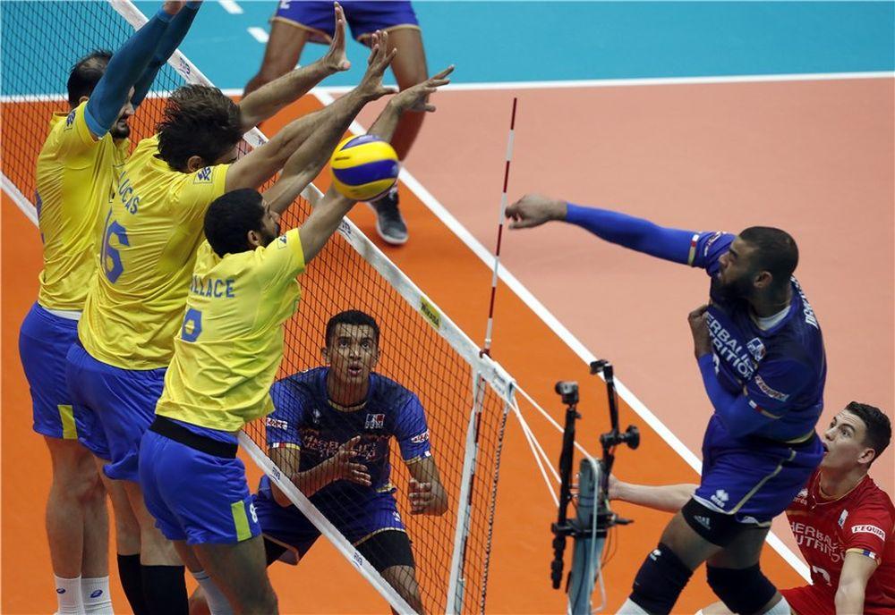 Volley - Equipe de France - Le Brésil remporte un fantastique duel face aux Bleus