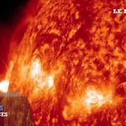 Les images spectaculaires d'une puissante éruption solaire