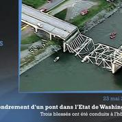Etats-Unis : effondrement d'un pont autoroutier vers Seattle