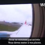 Atterrissage raté à New York : des images de l'intérieur de l'avion