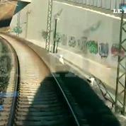 Le comparatif vidéo du train à vitesse normale et lors du drame