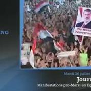 En Egypte, les Frères musulmans manifestent contre