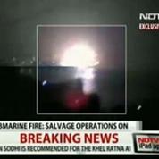 Explosion d'un sous-marin en Inde avec 18 personnes à bord