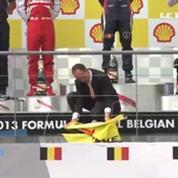 Greenpeace pirate le podium du Grand Prix de Belgique
