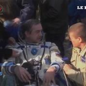 Retour sur Terre de trois spationautes de l'ISS