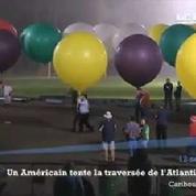 Un Américain tente la traversée de l'Atlantique en ballon