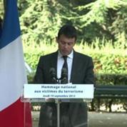 Manuel Valls rend hommage aux victimes du terrorisme