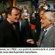 Tarantino rencontre son idole Belmondo à Lyon