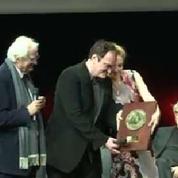Quentin Tarentino reçoit le prix du festival Lumière