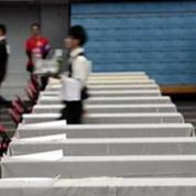 Compétition de porter de plateau à Taipei
