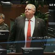 Toronto : le maire Rob Ford perd ses pouvoirs lors d'un conseil mouvementé