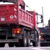 Des files de camions contre l'ecotaxe dans 16 régions