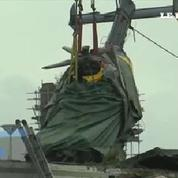 Glasgow : opération de déblayage après le crash d'un hélicoptère