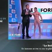 Zapping TV : un homme complètement nu sur Canal+ !