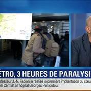 BFM Story: les quatre lignes du métro parisien sont paralysées pendant trois heures