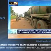 Situation explosive en République Centrafricaine