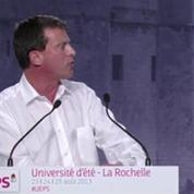 Valls dénonce Dieudonné et Soral à l'Université d'été 2013 du PS
