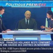 Politique Première: Le chômage est à la hausse, mais Hollande reste confiant