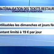Les tickets restaurant devraient bientôt être dématérialisés