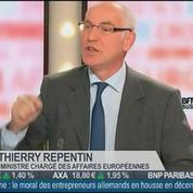 Thierry Repentin, le ministre des Affaires européennes, dans Le Grand Journal 4/4