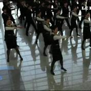 Flashmob à l'aéroport de Shanghai