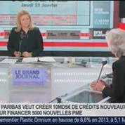 Marie-Claire Capobianco, responsable de la banque de détail en France de BNP Paribas, dans Le Grand Journal 1/4