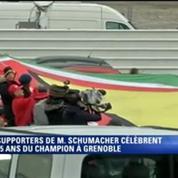 Schumacher: une banderole de 21 mètres déployée devant le CHU de Grenoble