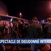 Manifestation de colère des fans de Dieudonné devant le Zénith de Nantes