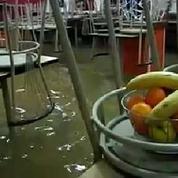 Inondations: le village de Tartas sous les eaux