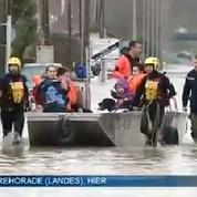Inondations dans les Landes : un mètre d'eau en quelques minutes