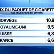 Le prix des cigarettes augmentera lundi de 20 centimes