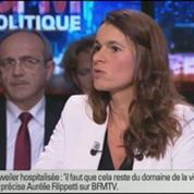 BFM Politique: L'interview BFM Business, Aurélie Filippetti répond aux questions d'Hedwige Chevrillon 2/6