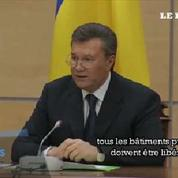 Ianoukovitch se pose toujours en président de l'Ukraine