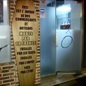 Ras-le-bol fiscal : des cercueils dans les vitrines des commerçants à Amiens
