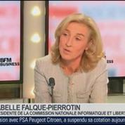 Isabelle Falque-Pierrotin, présidente de la Commission nationale de l'informatique et des libertés, dans Le Grand Journal – 3/4