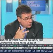Nexans a fait état d'un résultat net négatif en 2013: Frédéric Vincent, dans Intégrale Bourse –