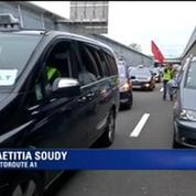 Grève des taxis: opération escargot en cours sur l'autoroute A1