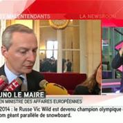 Ukraine : Bruno Le Maire demande une réunion du Conseil européen