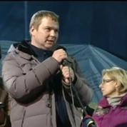 Accueil réservé au nouveau gouvernement ukrainien place Maïdan à Kiev