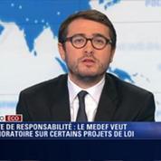 L'Édito éco d'Emmanuel Duteil: Pacte de responsabilité: Le Medef veut un moratoire sur certains projets de loi