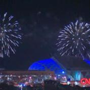 Winter Olympics : Sochi fireworks rehearsal