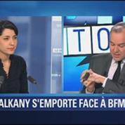 BFM Story: Patrick Balkany: le député et maire sortant UMP de Levallois-Perret s'emporte face à la caméra de BFMTV