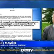 Noël Mamère: la nomination de Valls, le diviseur, ne ravit pas les écologistes
