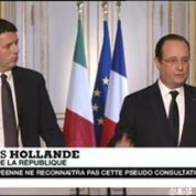 Crimée: Hollande envisage de nouvelles sanctions contre la Russie