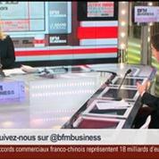 Matthieu Pigasse, directeur général de la banque Lazard France, et Guillaume Faury, président directeur général d'Airbus Helicopters, dans Le Grand Journal 2/3