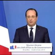 Ukraine: François Hollande annonce les sanctions prises par le Conseil européen