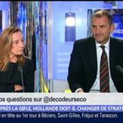 Après la gifle, Hollande doit-il changer de stratégie ?, dans Les Décodeurs de l'éco 1/5