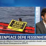 BFM Story: Intrusion de militants de Greenpeace dans la centrale nucléaire Fessenheim: On a souhaité interpeller le chef de l'État, Sébastien Blavier