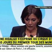 Municipales : le meeting d'Anne Hidalgo interrompu par le collectif Jeudi Noir