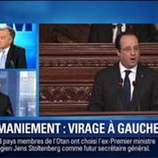 BFM Story: Remaniement du gouvernement : François Delapierre estime que François Hollande doit prendre un virage à gauche